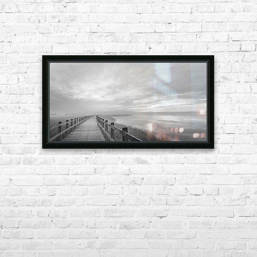 The long wooden footbridge. HD Sublimation Metal print with Decorating Float Frame (BOX)