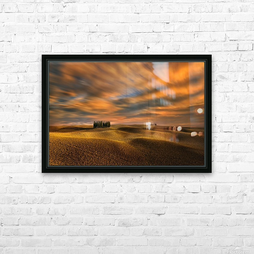 Cypresses... HD Sublimation Metal print with Decorating Float Frame (BOX)