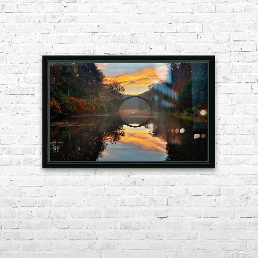 Autumn garden... HD Sublimation Metal print with Decorating Float Frame (BOX)