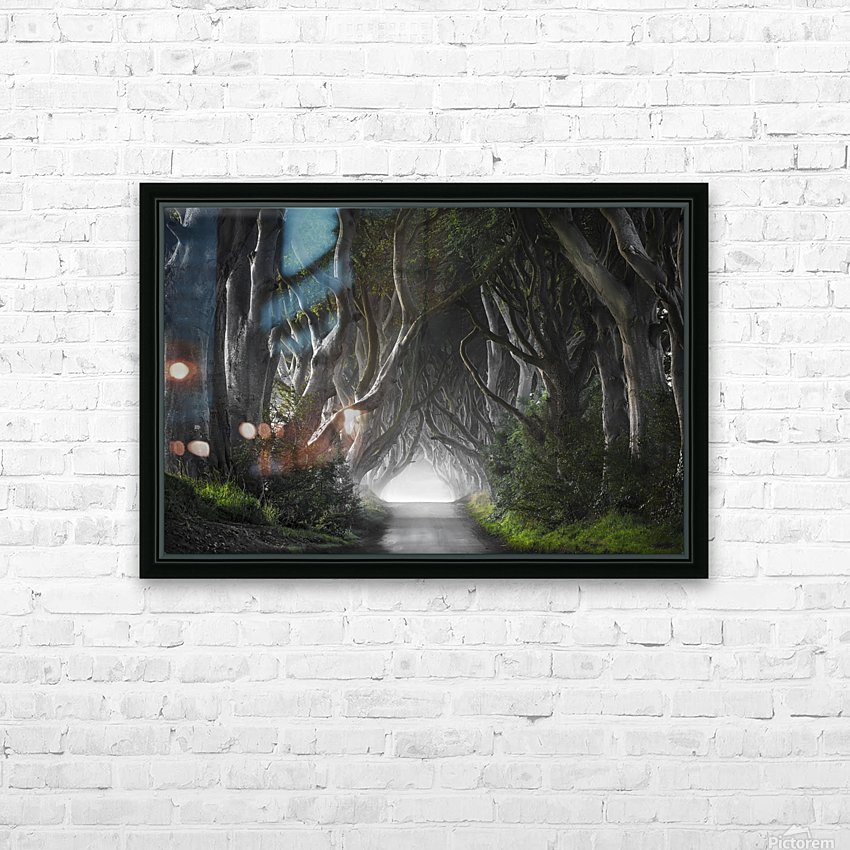 DARK HEDGES HD Sublimation Metal print with Decorating Float Frame (BOX)
