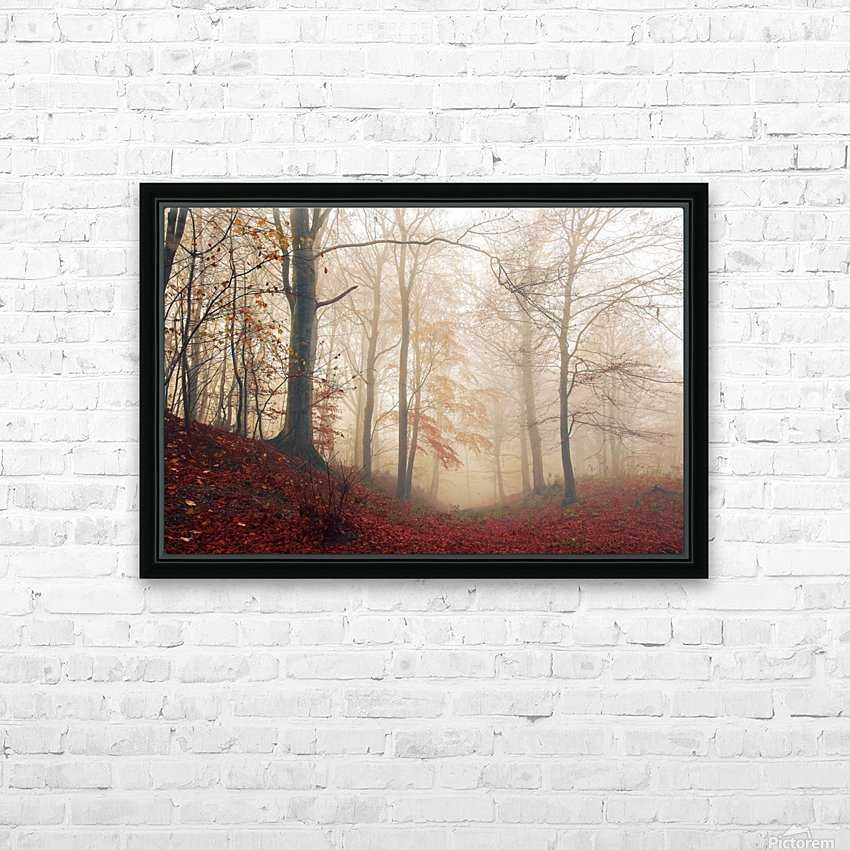 Waiting for the deer. HD Sublimation Metal print with Decorating Float Frame (BOX)