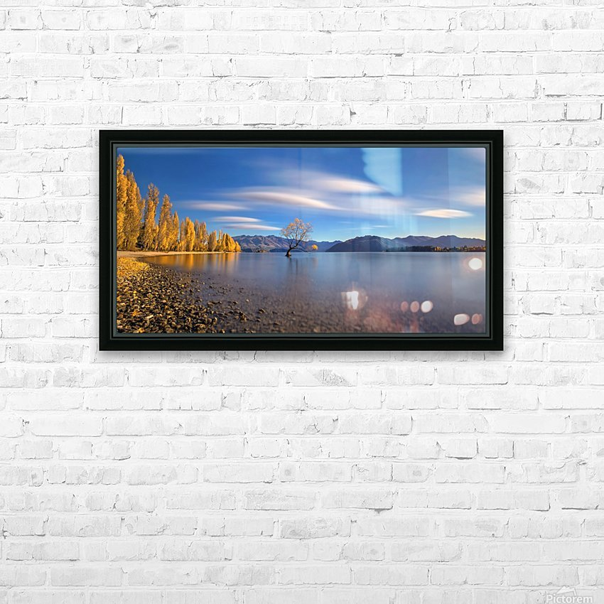 Autumn in Lake Wanaka HD Sublimation Metal print with Decorating Float Frame (BOX)
