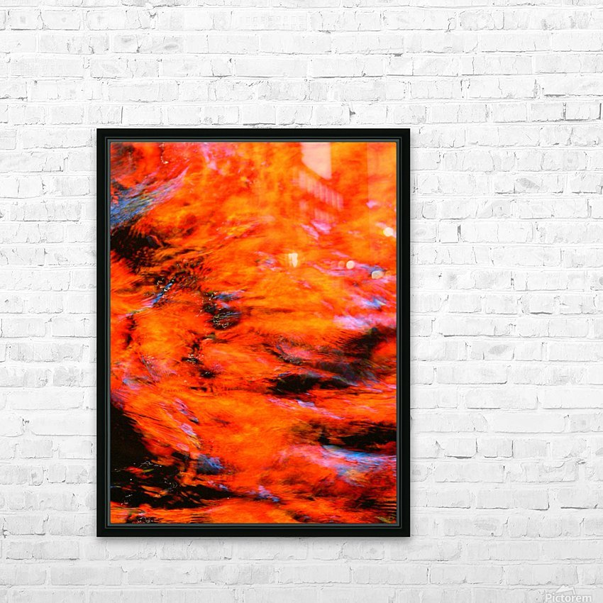 The Flock Orange HD Sublimation Metal print with Decorating Float Frame (BOX)