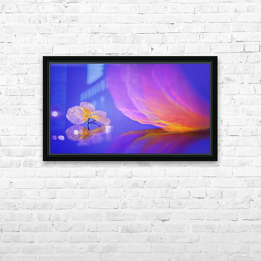 Leaf message HD Sublimation Metal print with Decorating Float Frame (BOX)