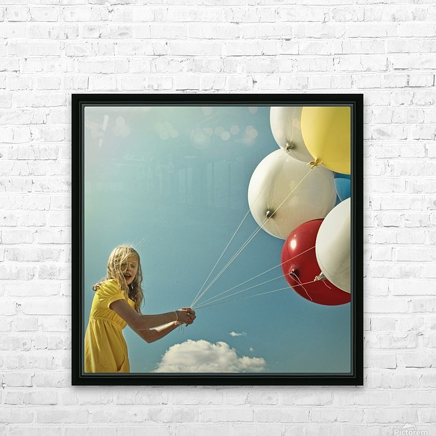 fly me to the moon HD Sublimation Metal print with Decorating Float Frame (BOX)
