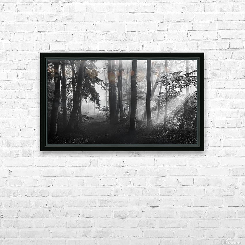 The first light... HD Sublimation Metal print with Decorating Float Frame (BOX)
