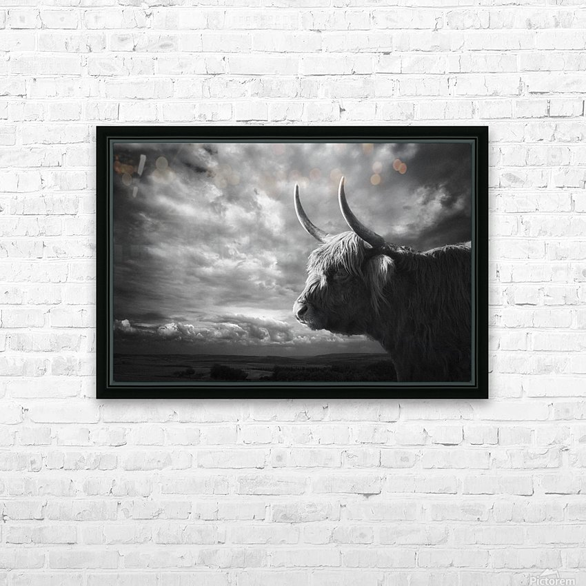the Highlands HD Sublimation Metal print with Decorating Float Frame (BOX)