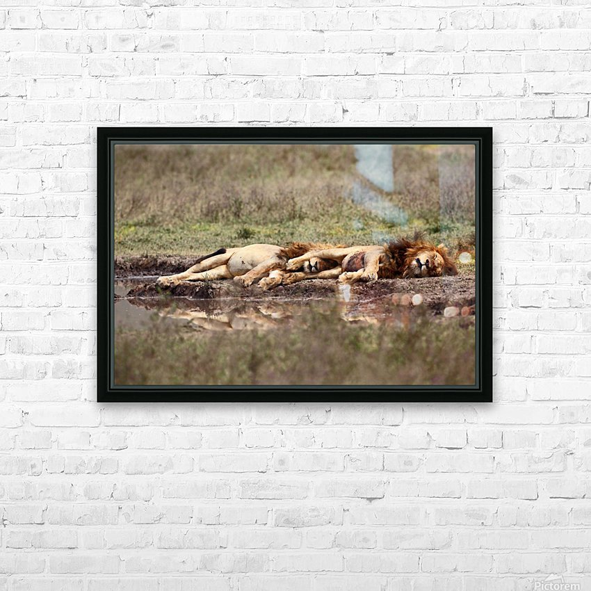 Warriors at rest HD Sublimation Metal print with Decorating Float Frame (BOX)