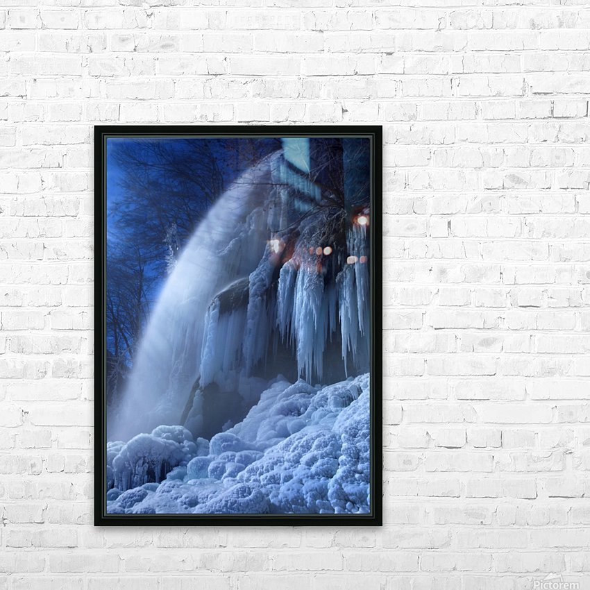 Frozen in the moonlight HD Sublimation Metal print with Decorating Float Frame (BOX)
