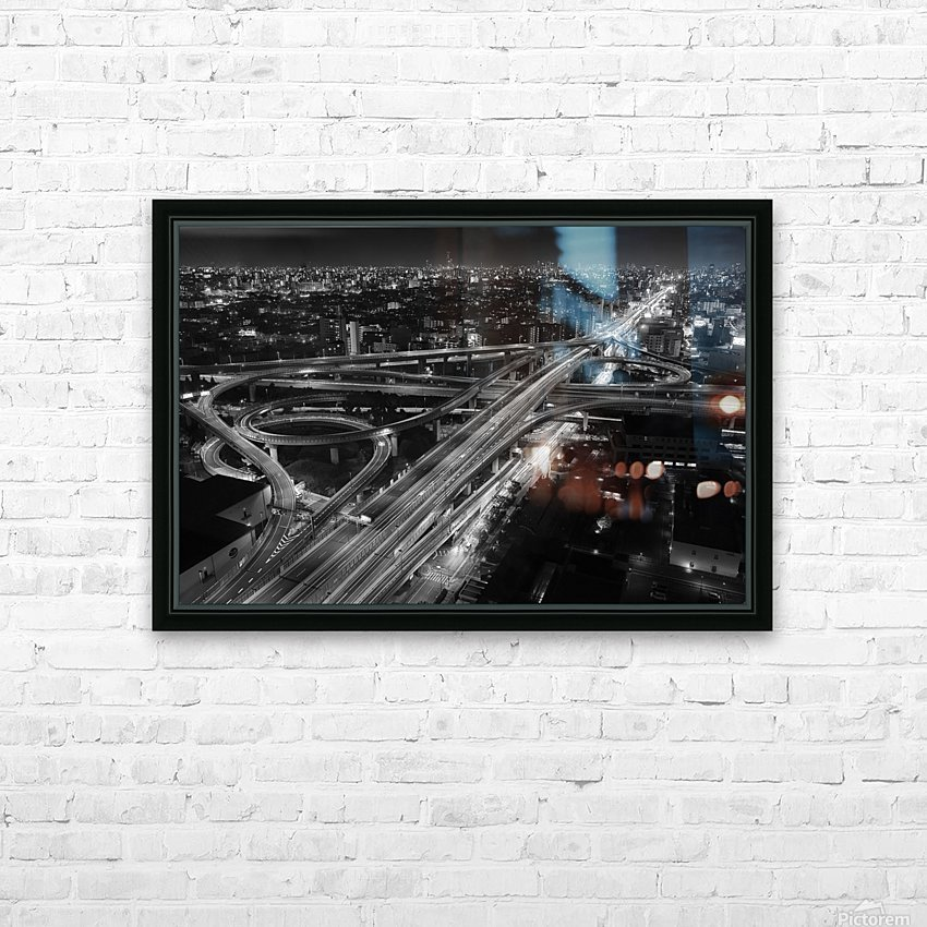 motorway HD Sublimation Metal print with Decorating Float Frame (BOX)
