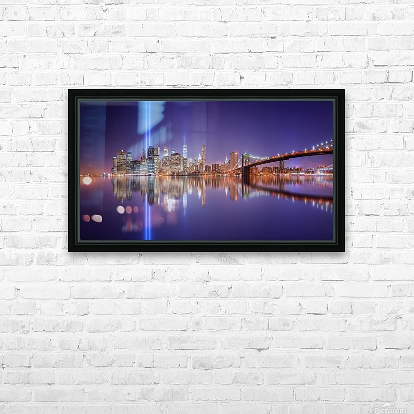 In memorial HD Sublimation Metal print with Decorating Float Frame (BOX)