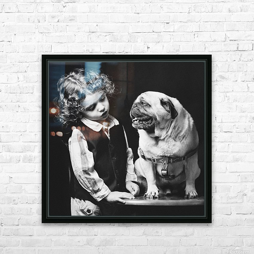 If you love me you can talk to me... HD Sublimation Metal print with Decorating Float Frame (BOX)