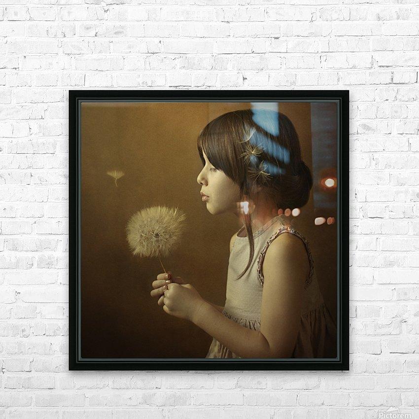 A Dandelion Poem HD Sublimation Metal print with Decorating Float Frame (BOX)
