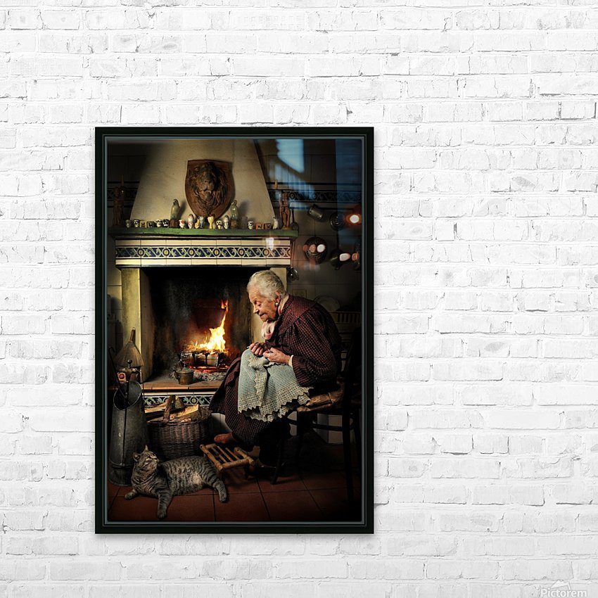Dear Cat.... Once upon a time... HD Sublimation Metal print with Decorating Float Frame (BOX)