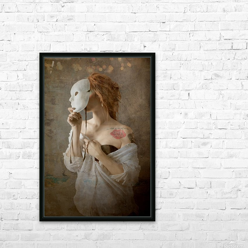 seeing through the mask HD Sublimation Metal print with Decorating Float Frame (BOX)