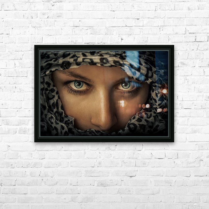 Woman with scarf HD Sublimation Metal print with Decorating Float Frame (BOX)
