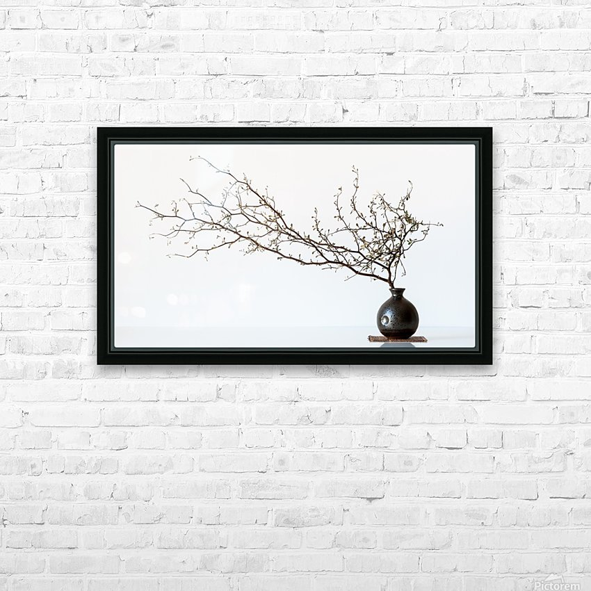 Vase And Branch HD Sublimation Metal print with Decorating Float Frame (BOX)