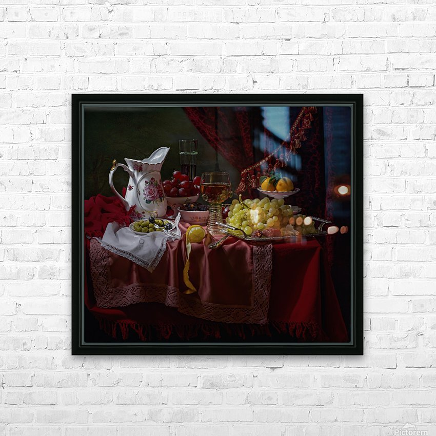 Still life in the Dutch style with a jug HD Sublimation Metal print with Decorating Float Frame (BOX)