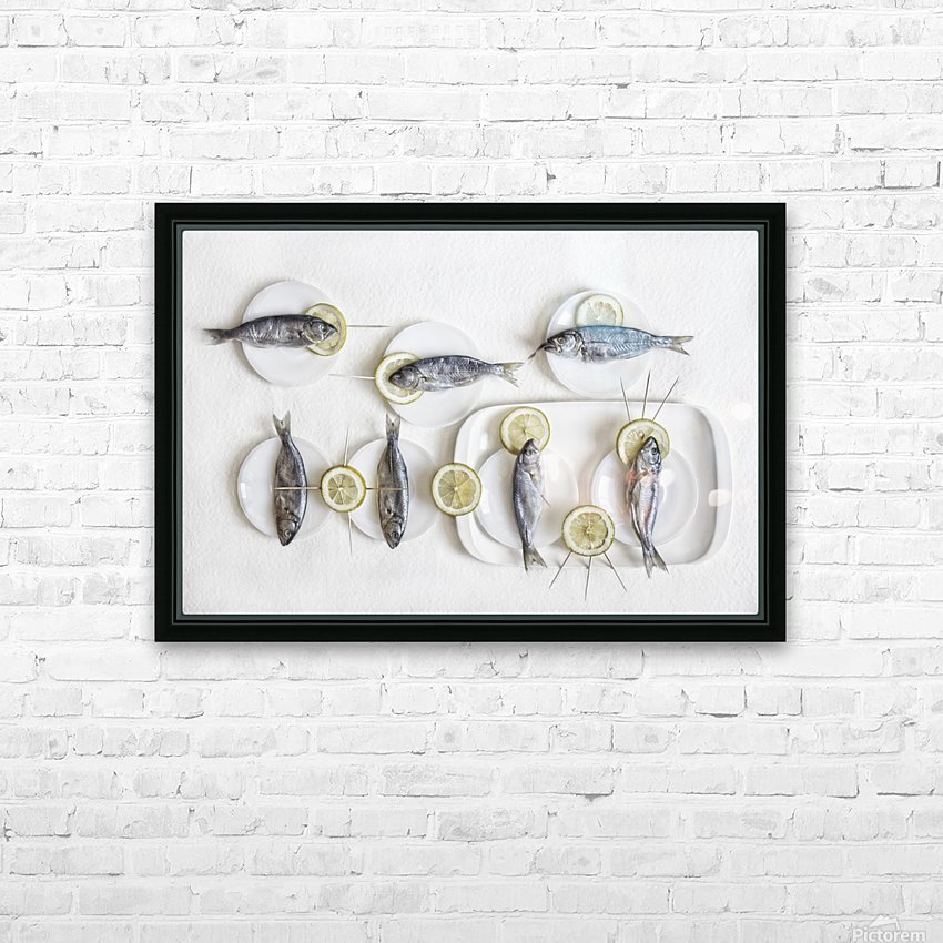 Still Life with Fish HD Sublimation Metal print with Decorating Float Frame (BOX)