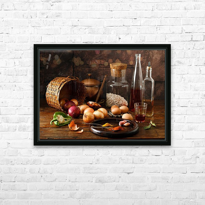 Smells HD Sublimation Metal print with Decorating Float Frame (BOX)