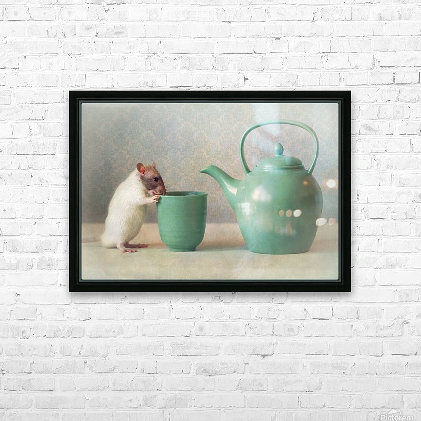 The Teapot HD Sublimation Metal print with Decorating Float Frame (BOX)