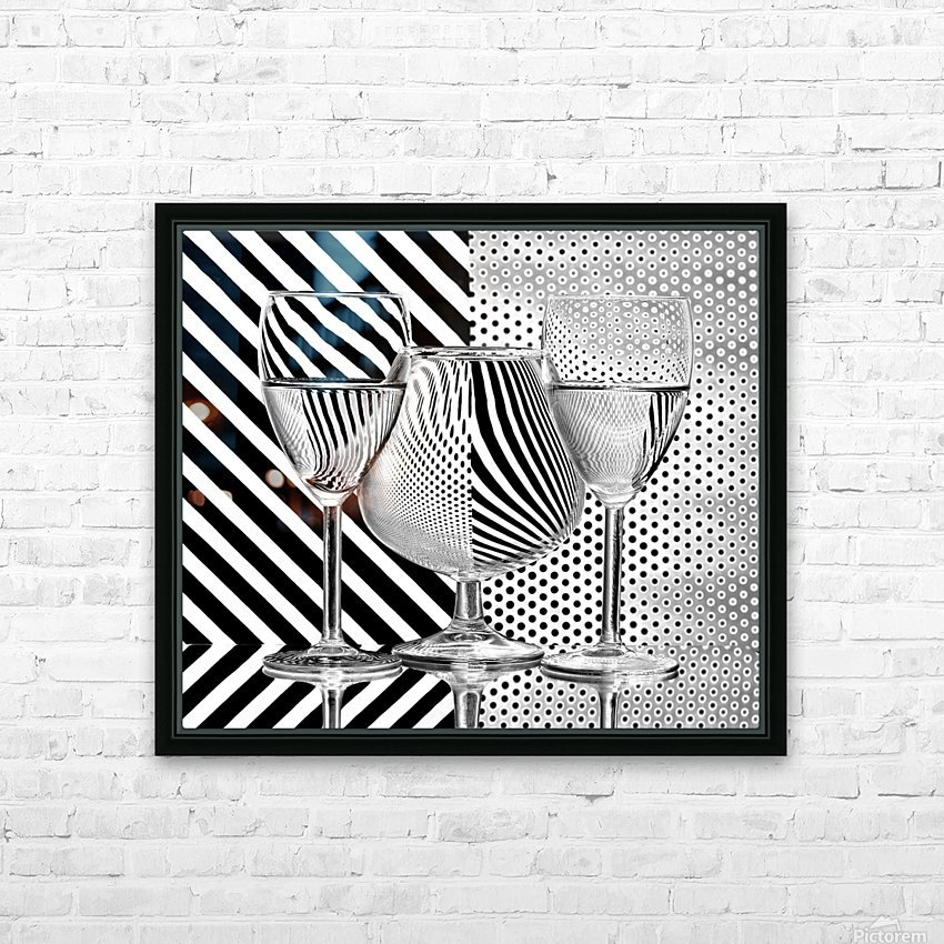Dots and stripes HD Sublimation Metal print with Decorating Float Frame (BOX)