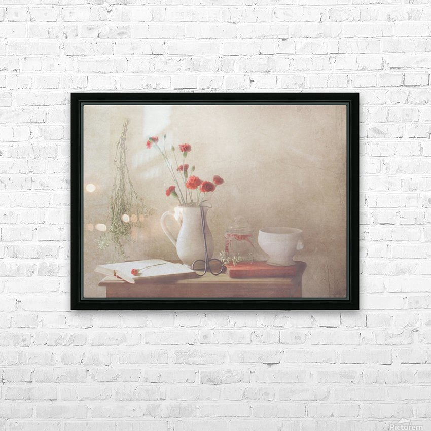 The Red Flowers HD Sublimation Metal print with Decorating Float Frame (BOX)