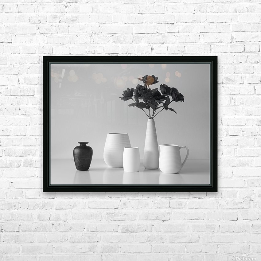 Still Life in Black and White HD Sublimation Metal print with Decorating Float Frame (BOX)
