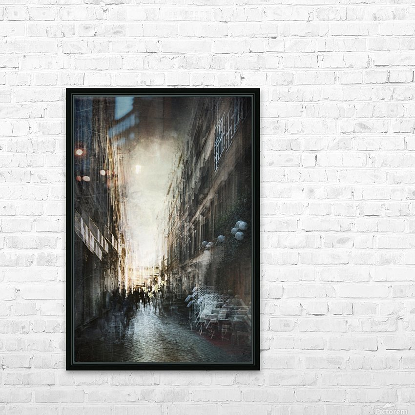Street HD Sublimation Metal print with Decorating Float Frame (BOX)