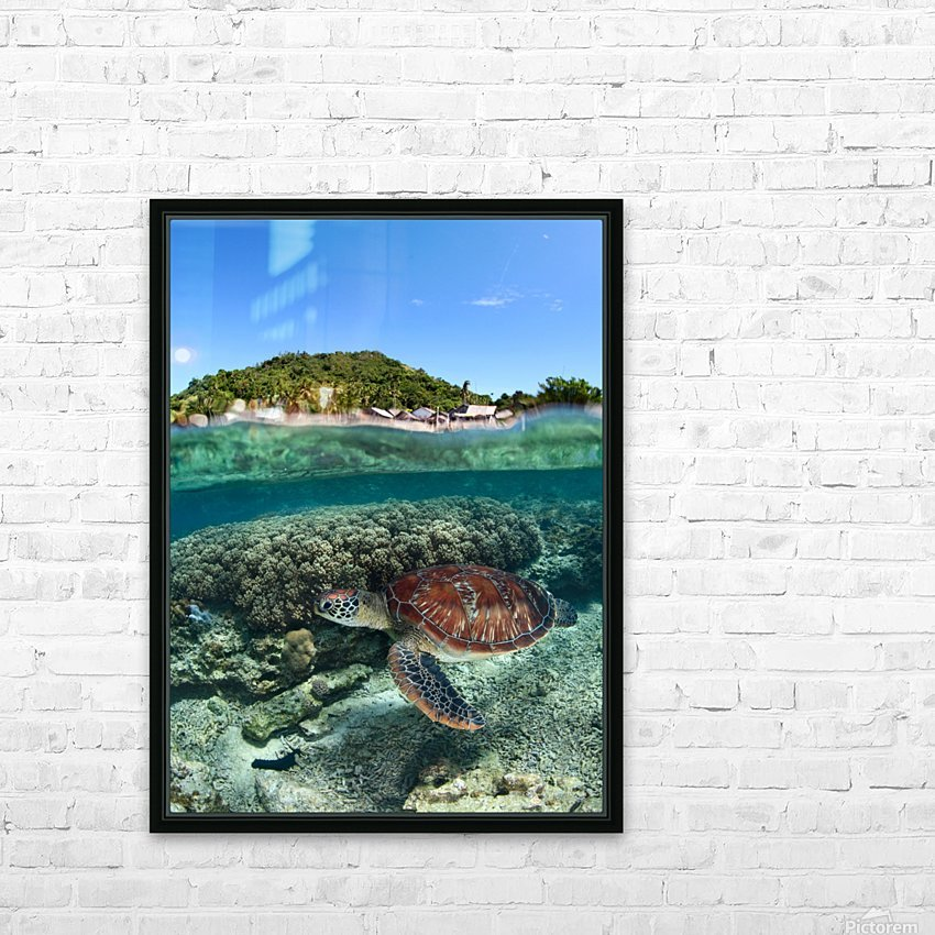 Along shore HD Sublimation Metal print with Decorating Float Frame (BOX)