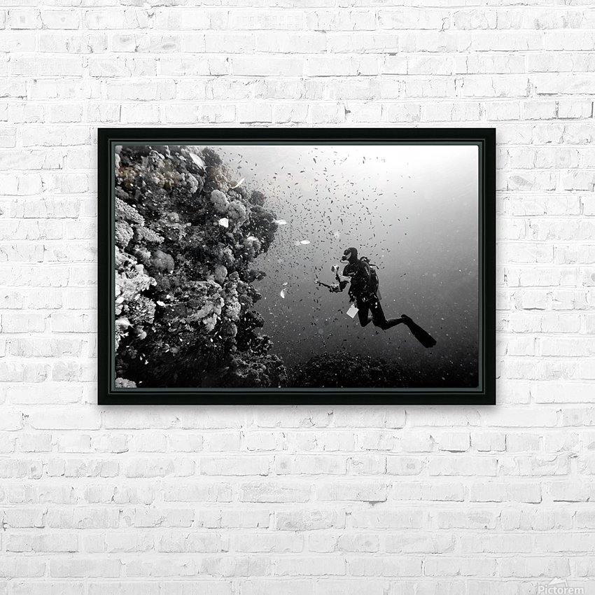 Man at work HD Sublimation Metal print with Decorating Float Frame (BOX)