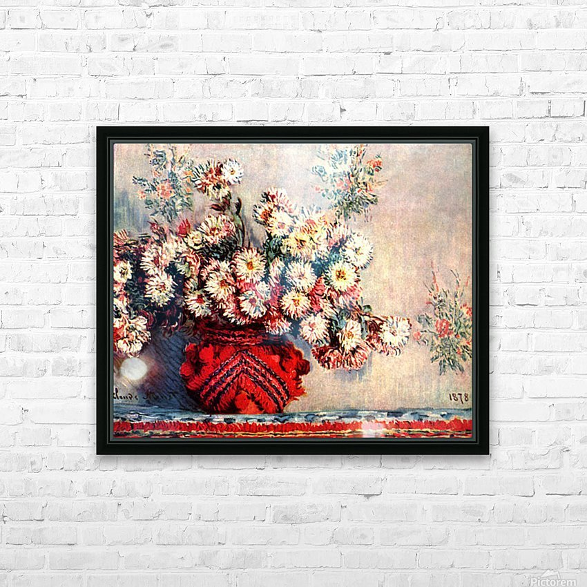 still life chrysanthemums HD Sublimation Metal print with Decorating Float Frame (BOX)