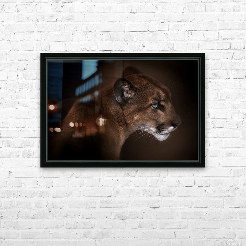 Puma HD Sublimation Metal print with Decorating Float Frame (BOX)