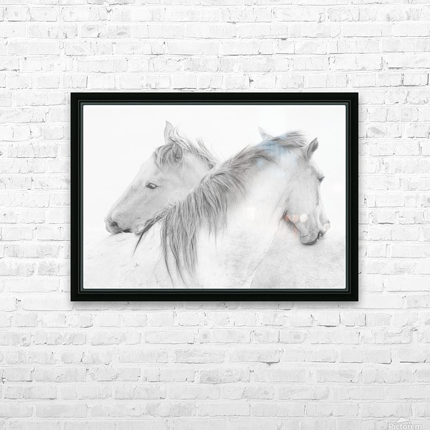 Horses HD Sublimation Metal print with Decorating Float Frame (BOX)