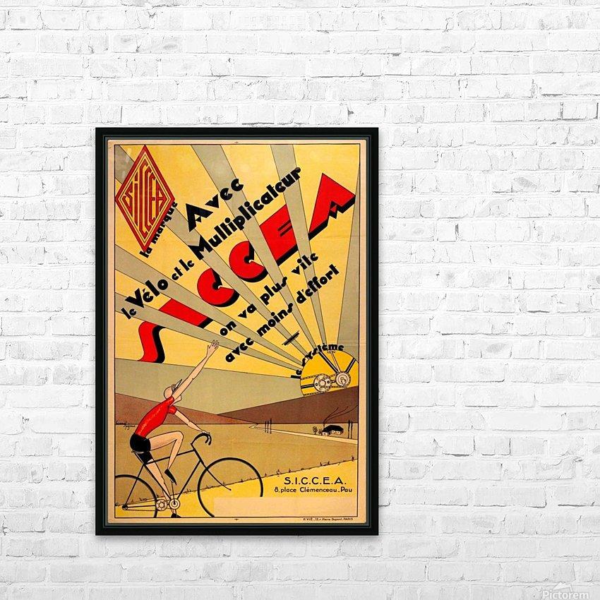 SICCEA original vintage poster HD Sublimation Metal print with Decorating Float Frame (BOX)