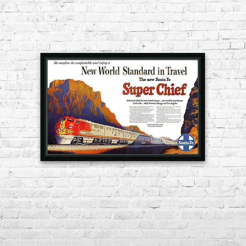 R17 Vintage Santa Fe USA Railway Travel Poster A1 A2 A3