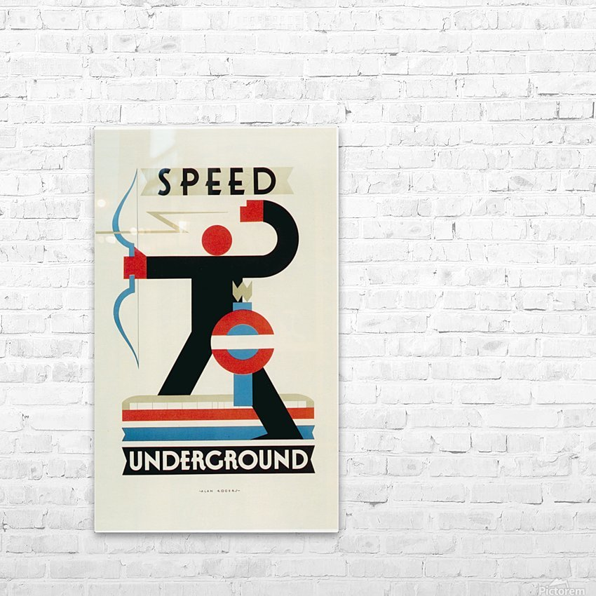 London Speed Underground poster HD Sublimation Metal print with Decorating Float Frame (BOX)