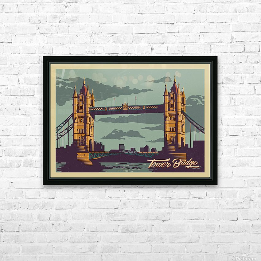 London Tower Bridge HD Sublimation Metal print with Decorating Float Frame (BOX)
