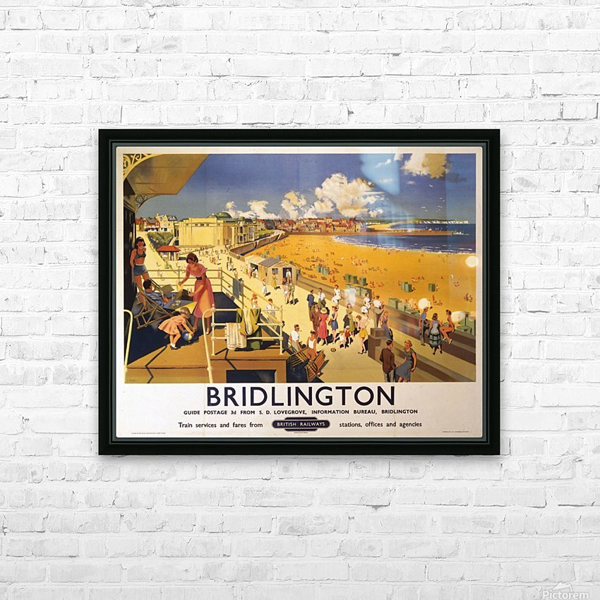 Bridlington poster Blake, F Donald 1950 HD Sublimation Metal print with Decorating Float Frame (BOX)