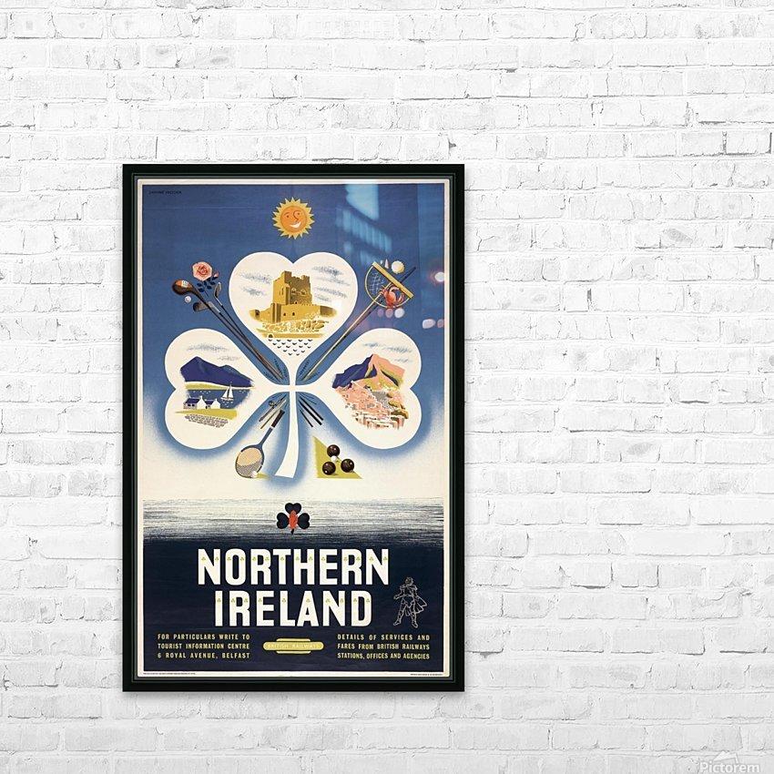 Vintage BR Irish Shamrock Travel poster HD Sublimation Metal print with Decorating Float Frame (BOX)