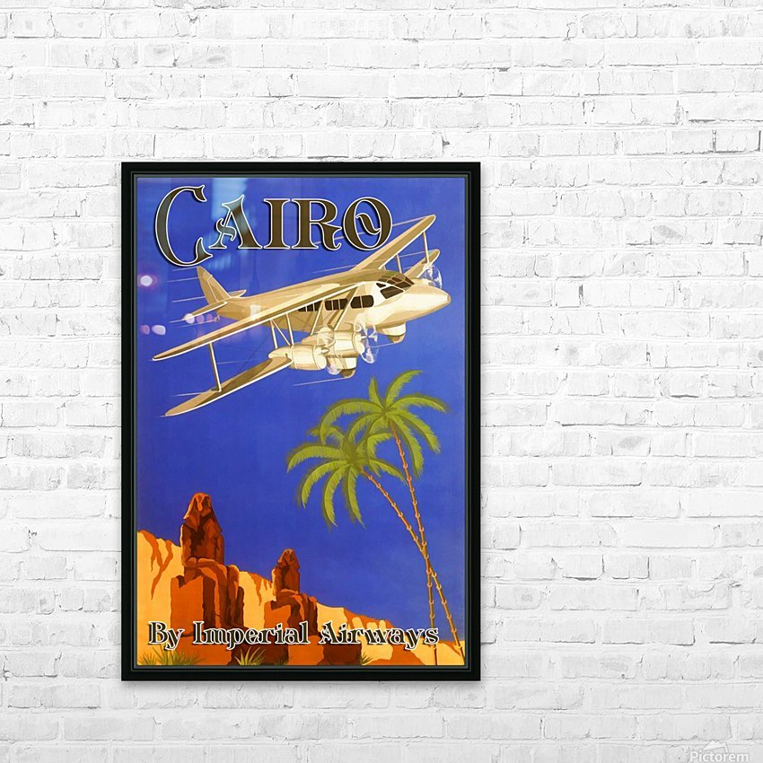 Cairo By Imperial Airways HD Sublimation Metal print with Decorating Float Frame (BOX)
