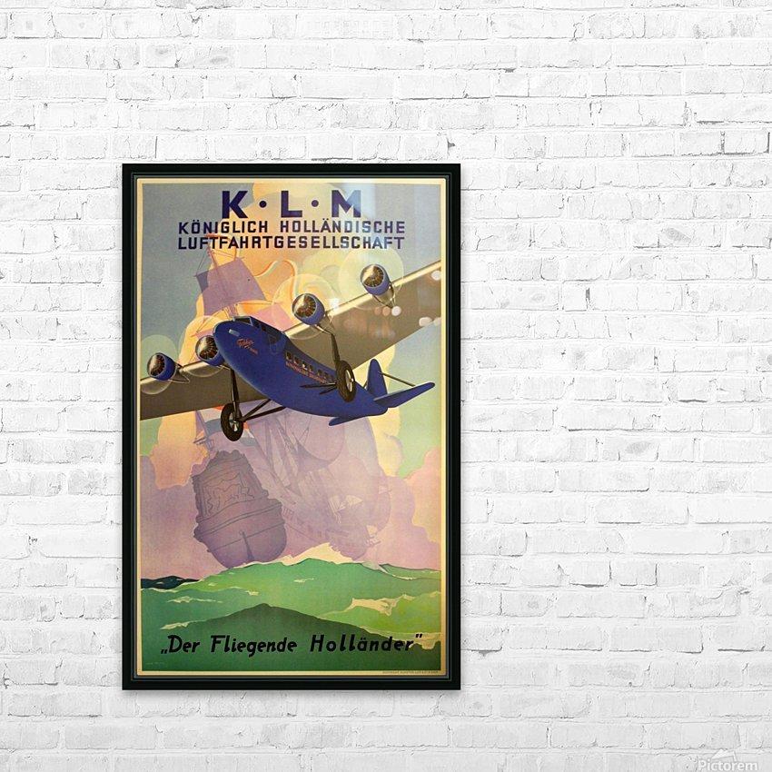 Original Vintage 1933 KLM Travel Advertising Poster HD Sublimation Metal print with Decorating Float Frame (BOX)