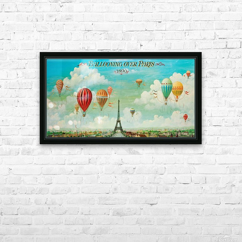 Ballooning over Paris HD Sublimation Metal print with Decorating Float Frame (BOX)