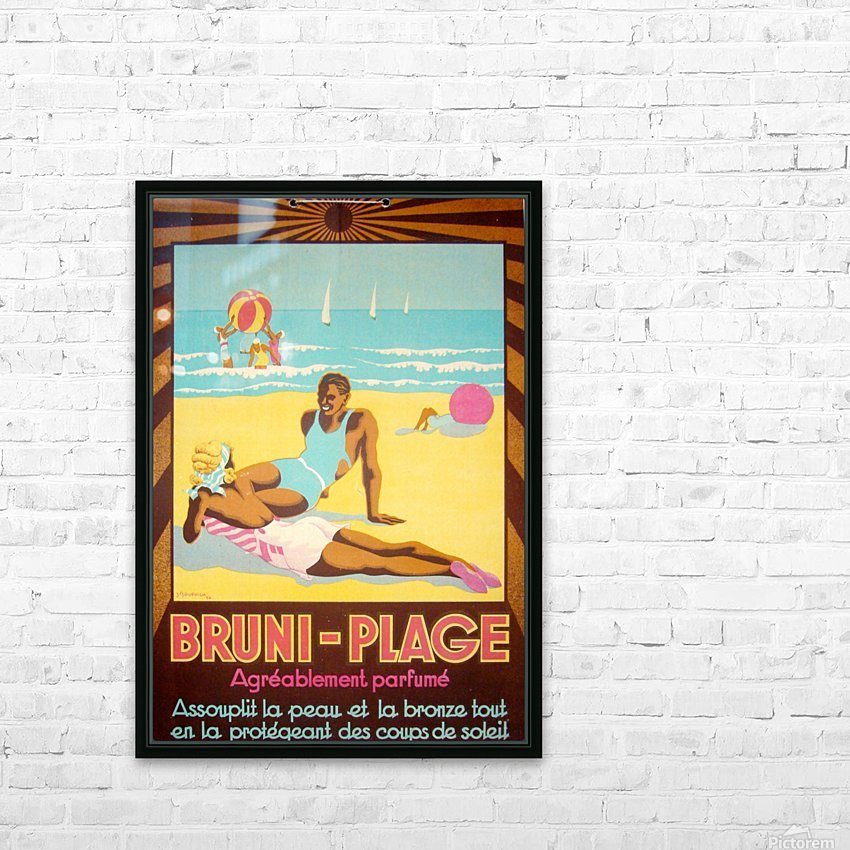 Bruni Plage HD Sublimation Metal print with Decorating Float Frame (BOX)
