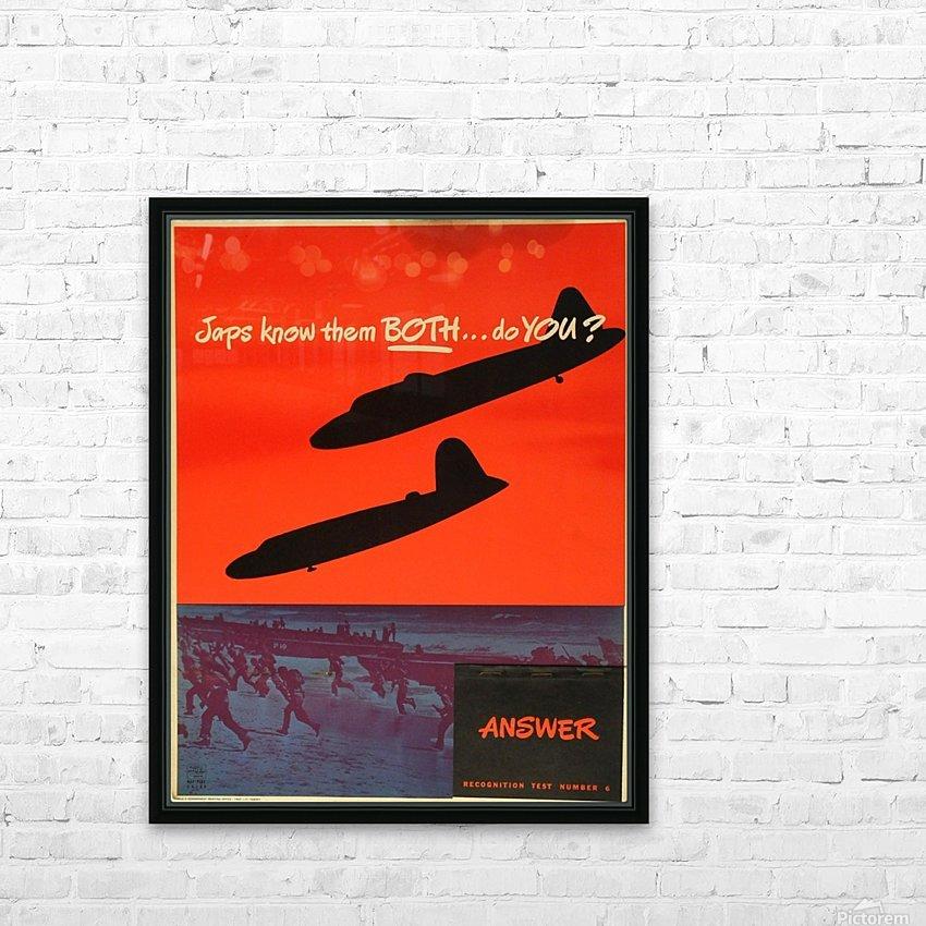 Recognition test vintage poster HD Sublimation Metal print with Decorating Float Frame (BOX)