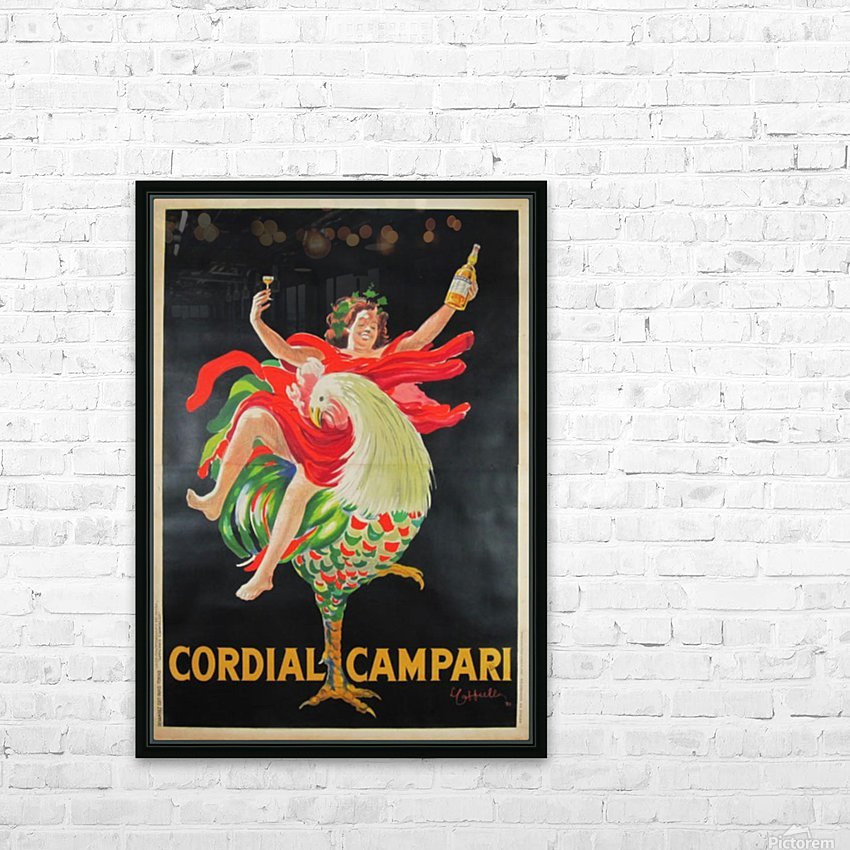 Cordial Campari HD Sublimation Metal print with Decorating Float Frame (BOX)