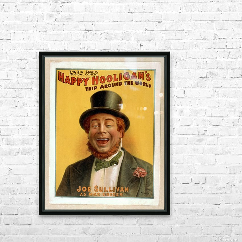 Happy Hooligan's Trip around the world HD Sublimation Metal print with Decorating Float Frame (BOX)