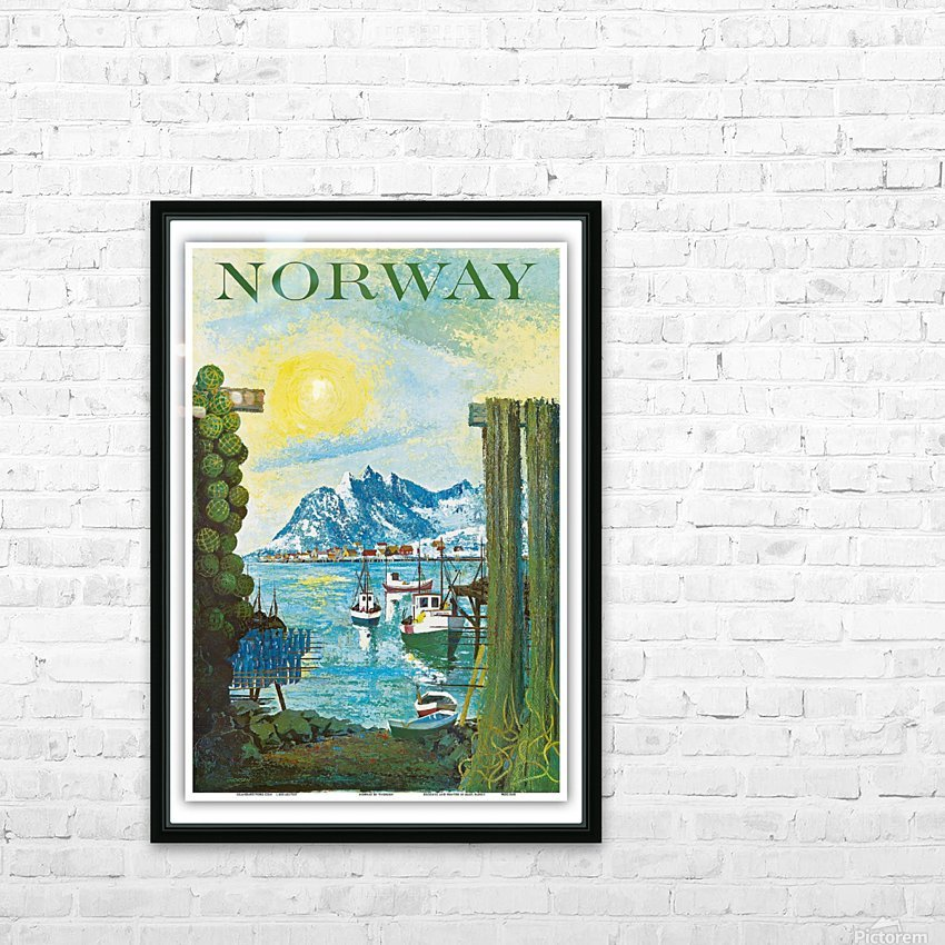 Norway HD Sublimation Metal print with Decorating Float Frame (BOX)