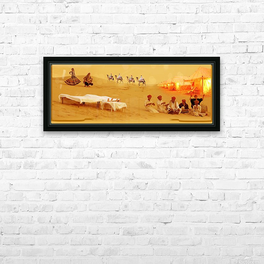 Rajasthan Tours HD Sublimation Metal print with Decorating Float Frame (BOX)