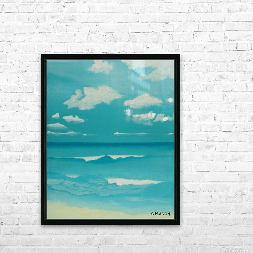 Gone to the beach. HD Sublimation Metal print with Decorating Float Frame (BOX)